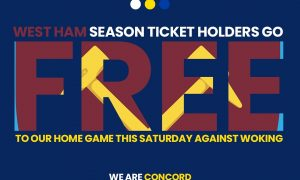 Hammers Fans Go FREE this Saturday